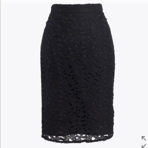 NWT J Crew Lace Pencil Skirt